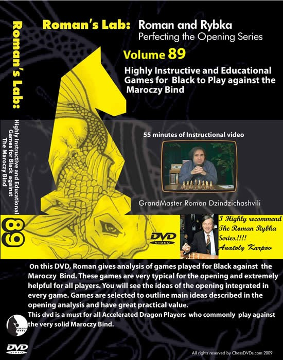 Roman's Lab Vol 89: Highly Instructive & Educational Games for Black to Play Against Maroczy Bind (