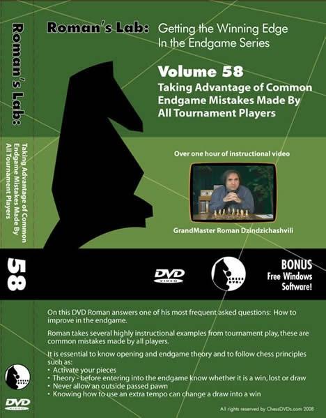 Roman's Lab Vol 58: Common Endgame Mistakes (over 1h)