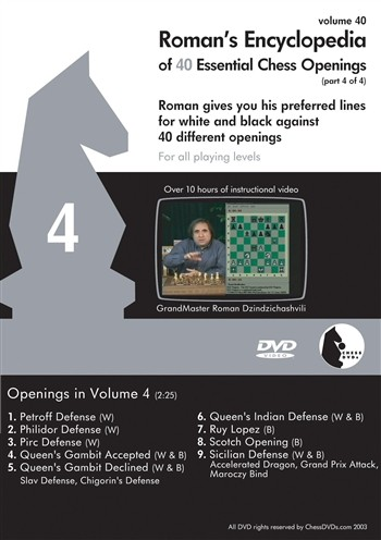 Roman's Lab Vol 40: Encyclopedia of Chess Openings Vol 4 (2h 25m)