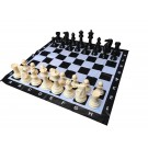 "Garden Chess set (8"" King) with 3 Ft Chess Mat"