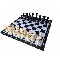 "Garden Chess set (8"" King) with 3 Ft Chess Mat"