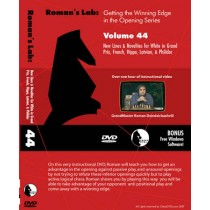 Roman's Lab Vol 44: New Lines for White against the Sicilian, French, Hippo, Latvian (over 1h)