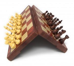 "Faux Wood Magnetic Travel set 2.5"" King"