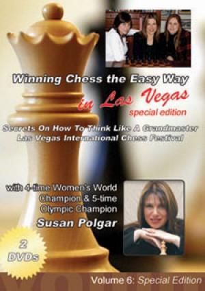 Winning Chess the Easy Way - Vol 6 (in Las Vegas) 2 DVD  -  Susan Polgar